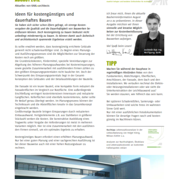 Bauherren-Information August 2012