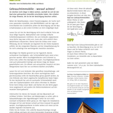 Bauherren-Information Mai 2013