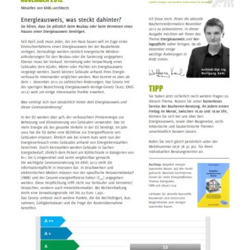 Bauherren-Information November 2012