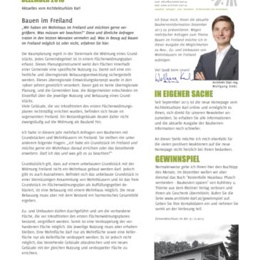 Bauherren-Information Dezember 2013